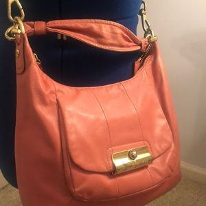 Coral Coach Crossbody
